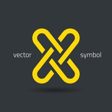 Creative line alphabet symbol  Letter X