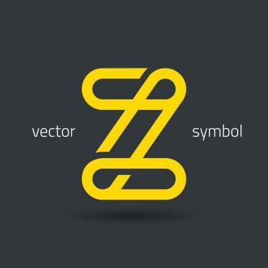 Creative line alphabet symbol  Letter Z