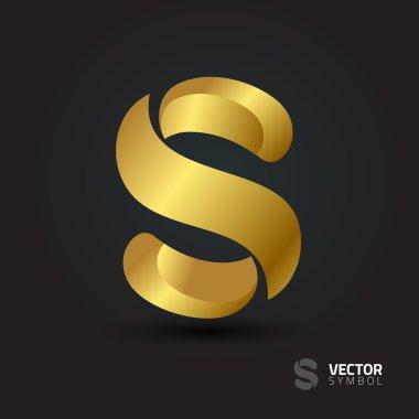Elegant alphabet symbol  S