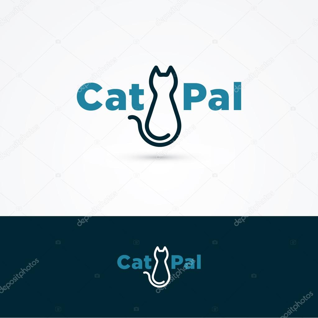 Cat Symbol With Sample Text Stock Vector Feabornset 69339119