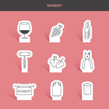 winery, drink icons