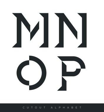 Cut minimal design alphbet
