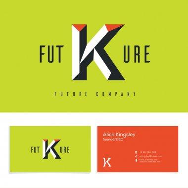 Letter K business alphabet