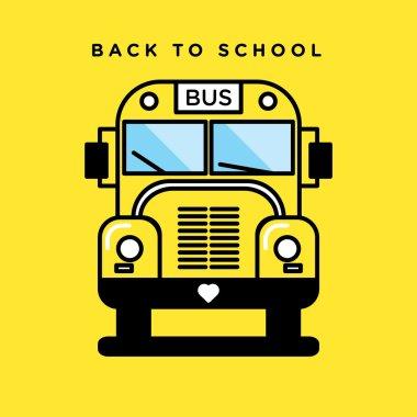 yellow school bus icon