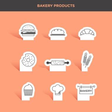 set of bakery goods