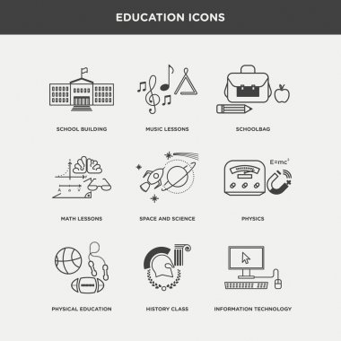 set of school and education