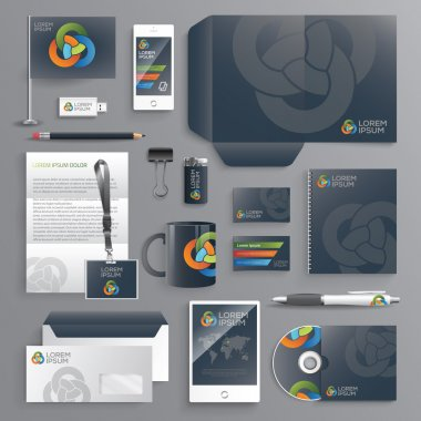 Business identity design templates