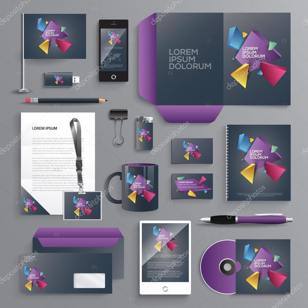 Business identity design templates