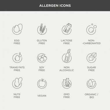 diet and food intolerance icons