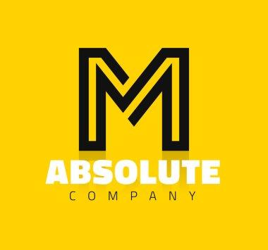 graphic line alphabet letter M