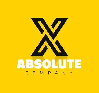 graphic line alphabet letter X