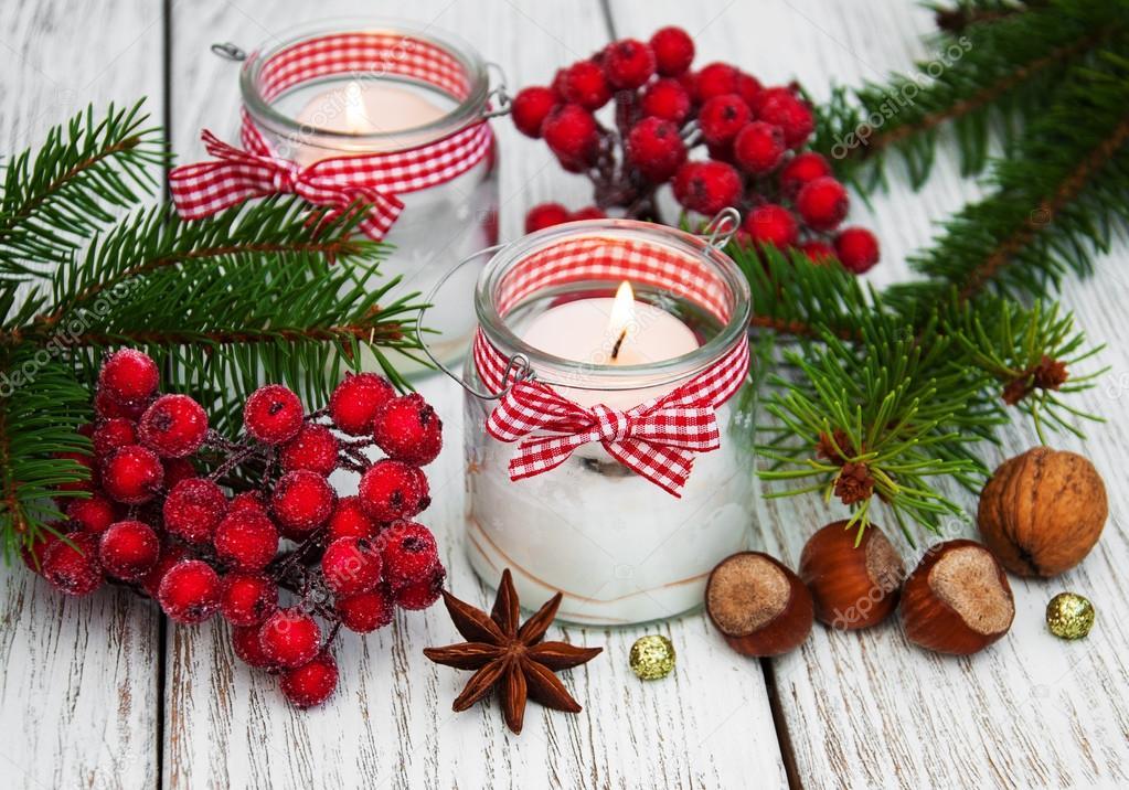 Adornos navide os velas en frascos de vidrio con abeto - Adornos navidenos con velas ...