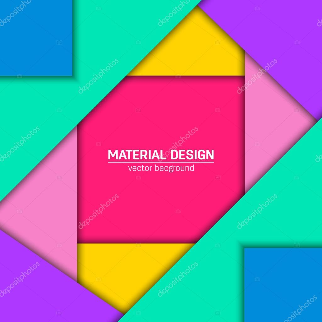 Vector material design background  — Stock Vector