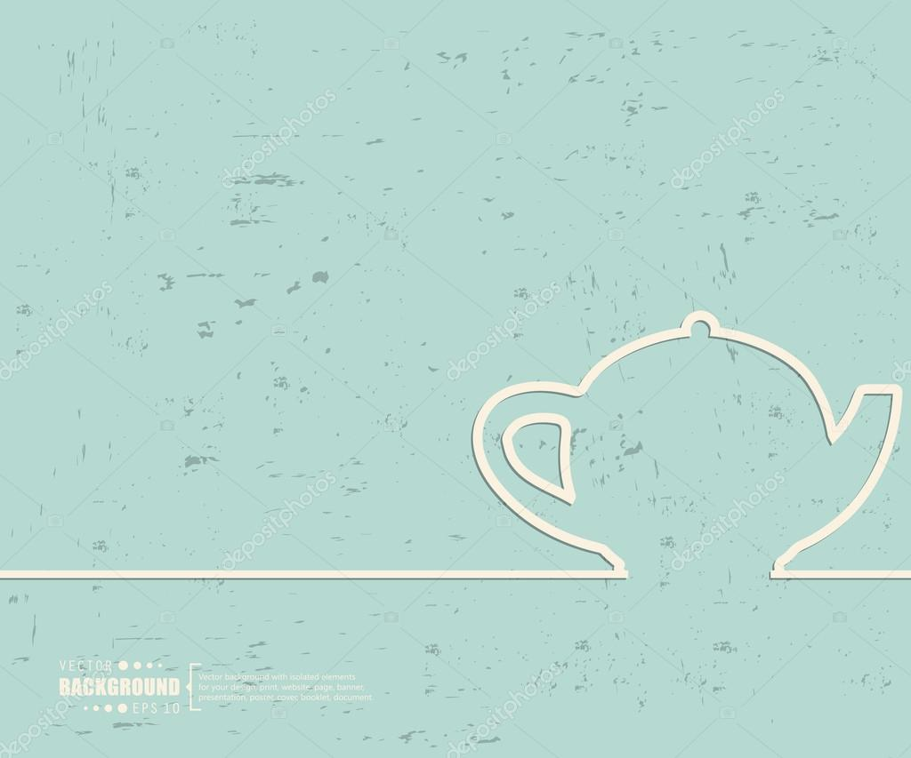 Creative Vector Teapot Art Illustration Template Background For Presentation Layout Brochure Logo Page Print Banner Poster Cover Booklet