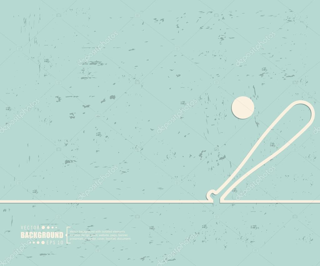 creative vector baseball art illustration template background for