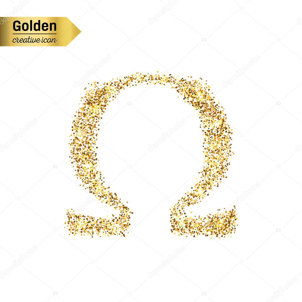Gold glitter icon of omega stock vector mikhailgrachikov gold glitter icon of omega stock vector biocorpaavc Choice Image