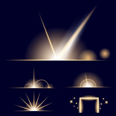 Creative concept Vector set of glow light effect stars bursts with sparkles isolated on black background. For illustration template art design, banner for Christmas celebrate, magic flash energy ray