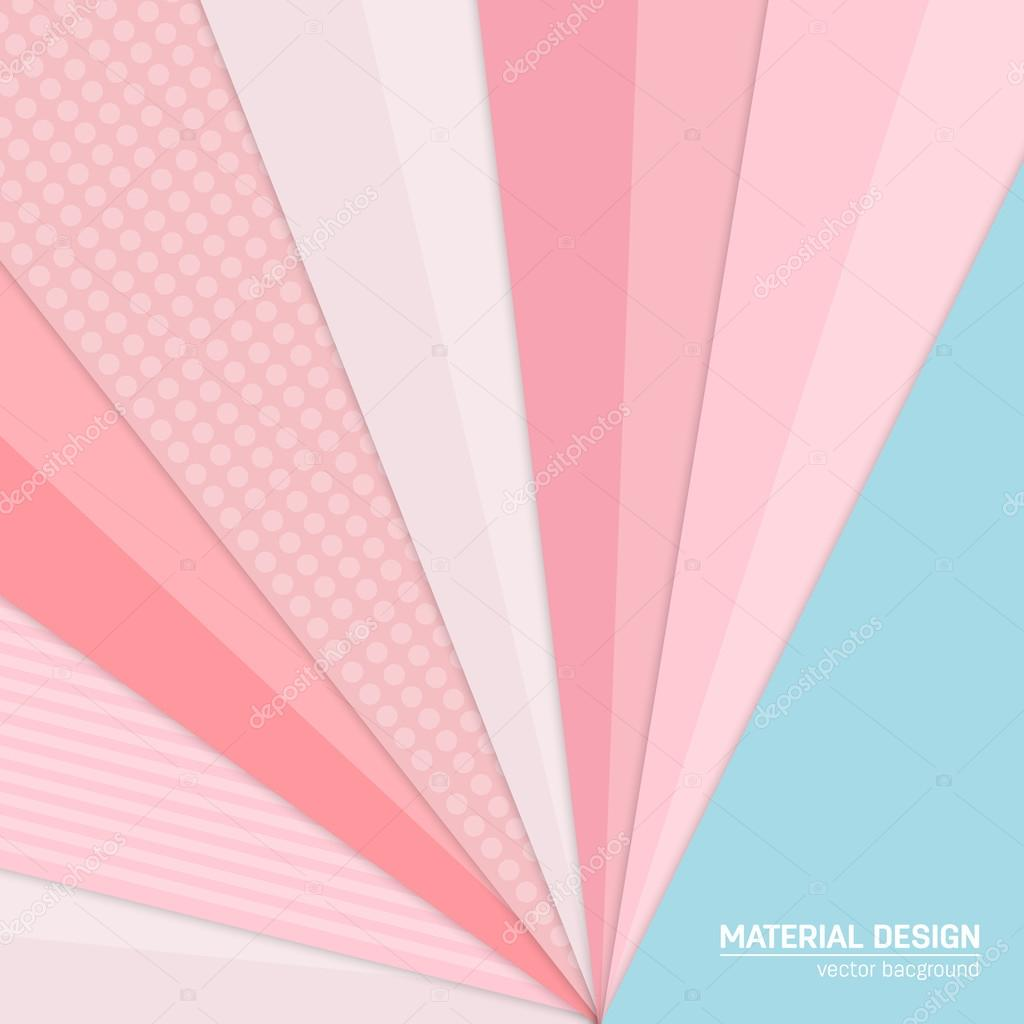 Vector material design background  Abstract creative concept
