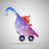 Photo Icon of stroller for Web and Mobile Applications