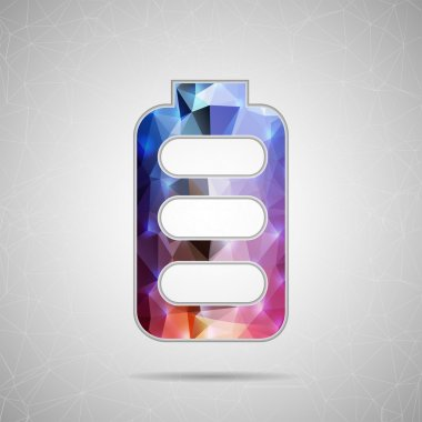 Icon of battery for Web and Mobile Applications
