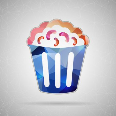 Icon of popcorn for Web and Mobile Applications