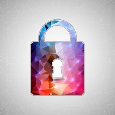 Creative concept  icon of padlock