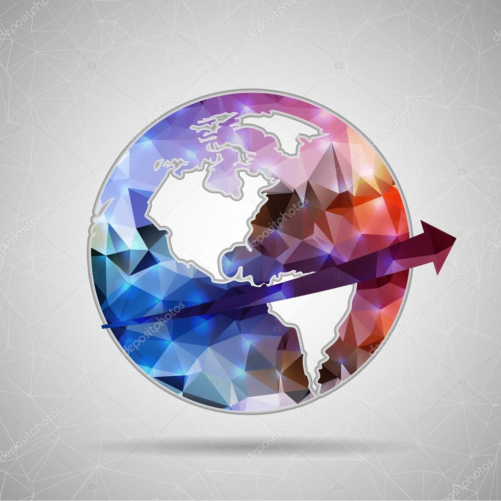 Icon of planet earth for Web and Mobile Applications