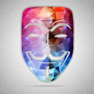 Abstract Creative concept vector icon of mask for Web and Mobile Applications isolated on background. Vector illustration template design, Business infographic and social media, origami icons.