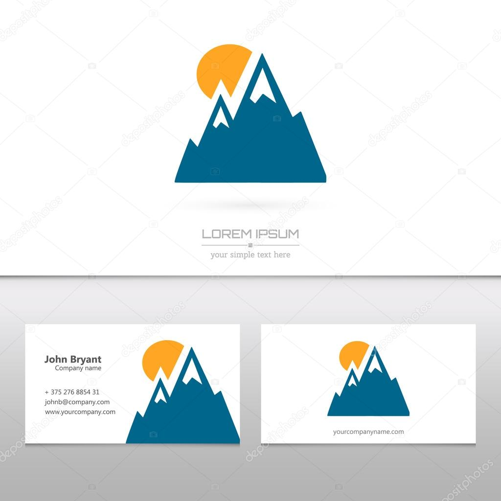 Abstract Creative concept vector logo icon of alp for Web and Mobile Applications isolated on background. Vector illustration template design, Business infographic and social media, origami icons.