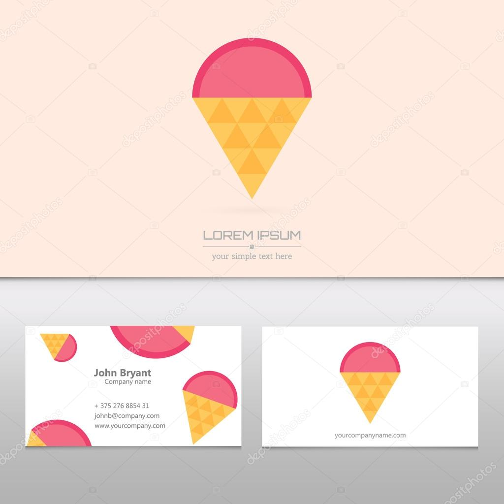 Abstract Creative concept vector logo of ice cream for web and ...