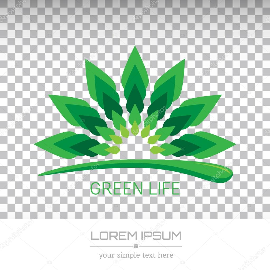 Abstract Creative concept vector image logo of leaf for web and mobile applications isolated on background, art illustration template design, business infographic and social media, icon, eco symbol.