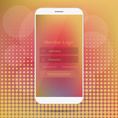 Abstract creative concept vector member login form interface. For web page, site, mobile applications, art illustration, design theme, modern menu, ui, app, contact empty box, banner, profil log in