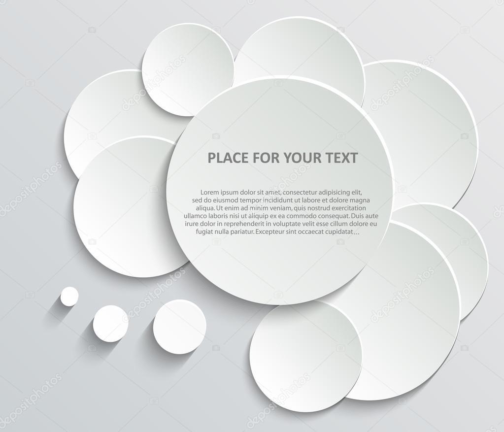 Zusammenfassung kreative Konzept Vektor leere Sprechblasen gesetzt ...
