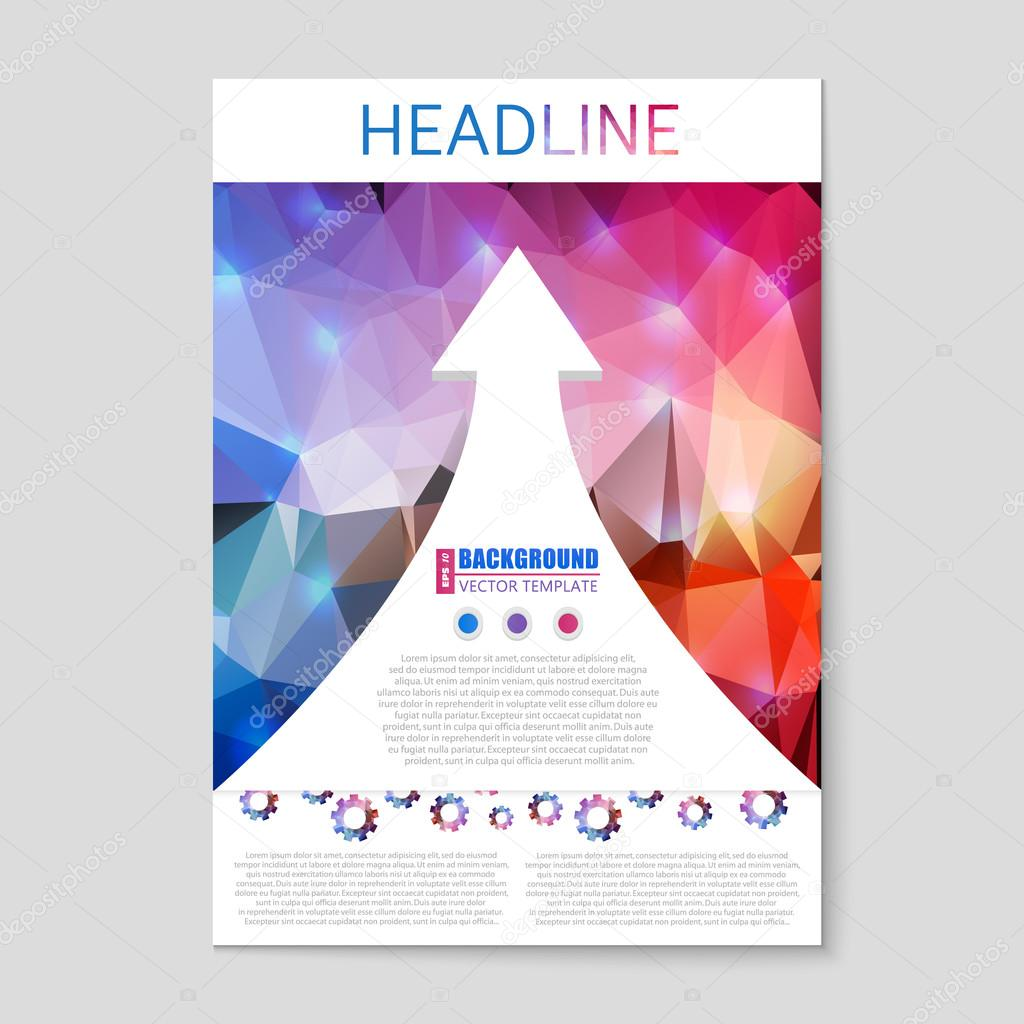 Abstract creative concept vector booklet list for web and for Craft fair application template