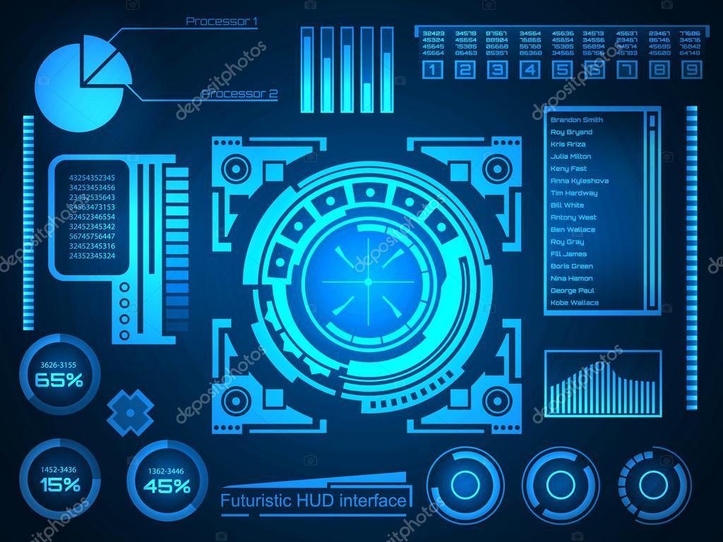 abstract future concept vector futuristic blue virtual