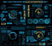 Abstrakte Zukunft, Konzept Vektor futuristisch blau virtuelle Grafik Touch Benutzeroberfläche Hud. Für Web, Website, mobile Anwendungen isoliert auf schwarzem Hintergrund, Techno, Online-Design, Business, gui, ui.