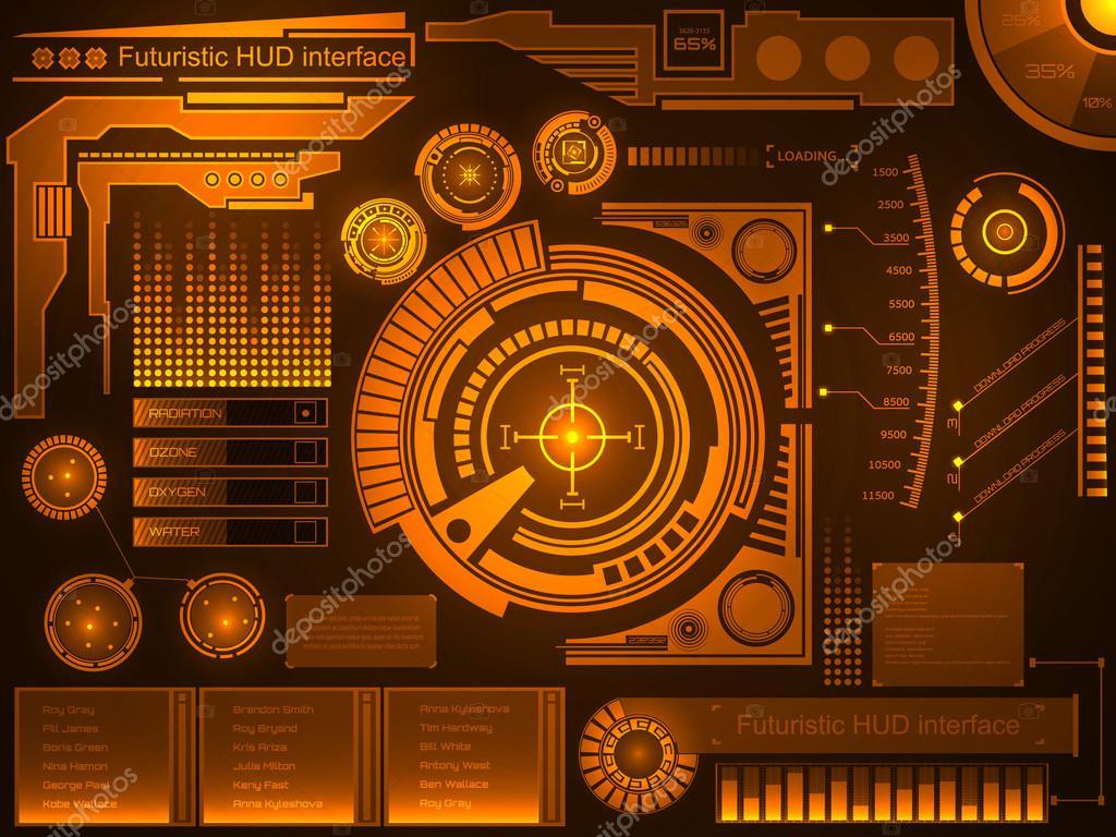 Abstract future, concept vector futuristic blue virtual ...