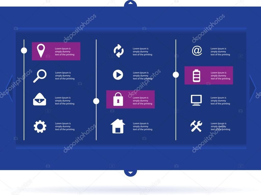 Navbar Design: Abstract Creative Concept Vector User Interface Template