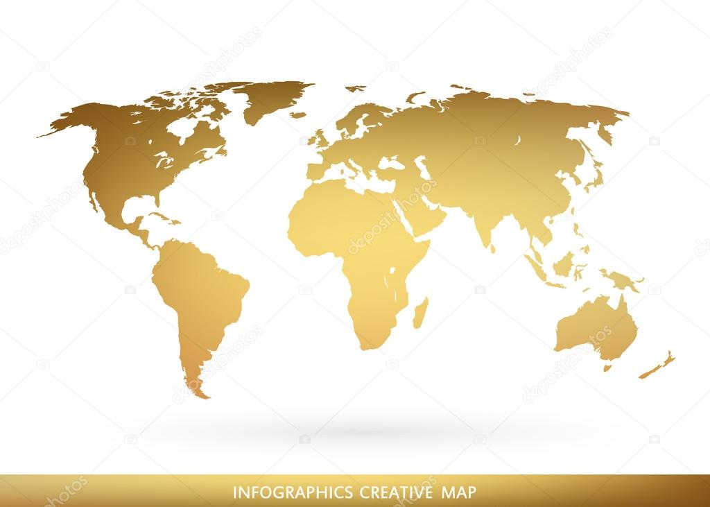 Abstract creative concept vector map of the world for web and mobile abstract creative concept vector map of the world for web and mobile applications isolated on background vector illustration creative template design gumiabroncs Choice Image