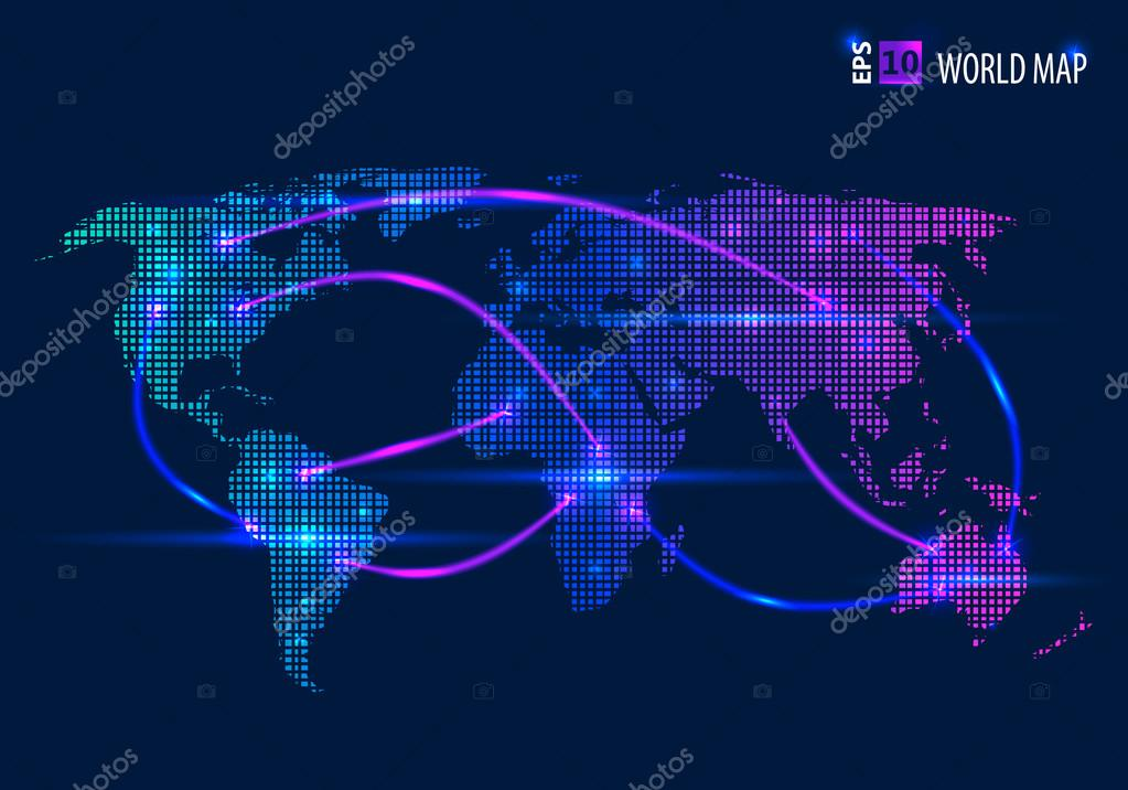 Abstract creative concept vector map of the world for web and mobile abstract creative concept vector map of the world for web and mobile applications isolated on background vector illustration creative template design gumiabroncs Gallery