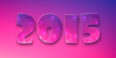 Abstract creative concept vector Happy New Year 2015 colorful greeting card for Web and Mobile Applications isolated on background, Illustration template, holiday design, party poster, greeting card.