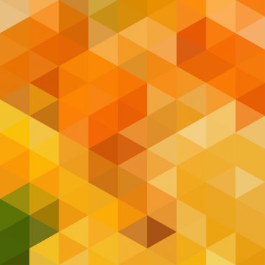 Abstract geometric background with yellow and orange colors triangles