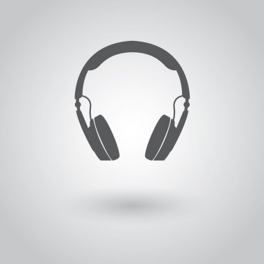 Modern headphones icon.