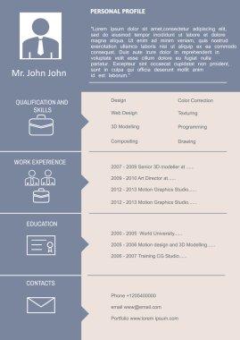 CV Curriculum Vitae Template