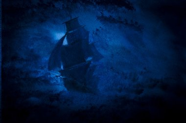 Pirate Ship and Storm