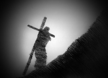 man carrying the cross