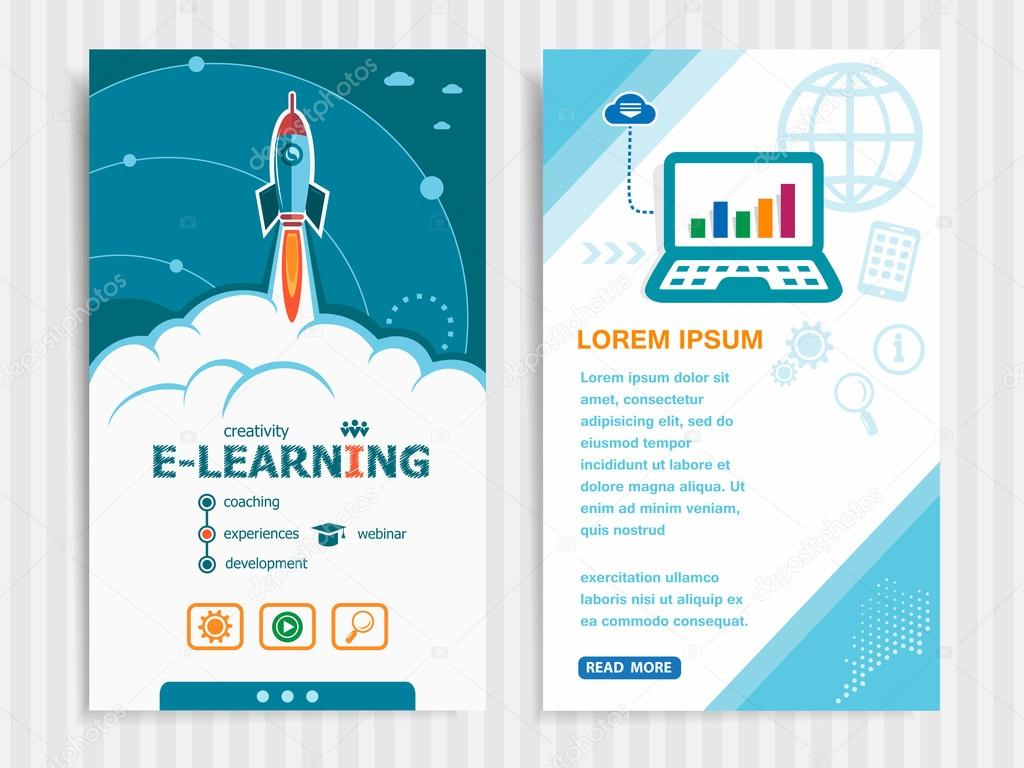Project Online E Learning Concepts And Set Of Banners Stock Vector C Mvmaster 118143636