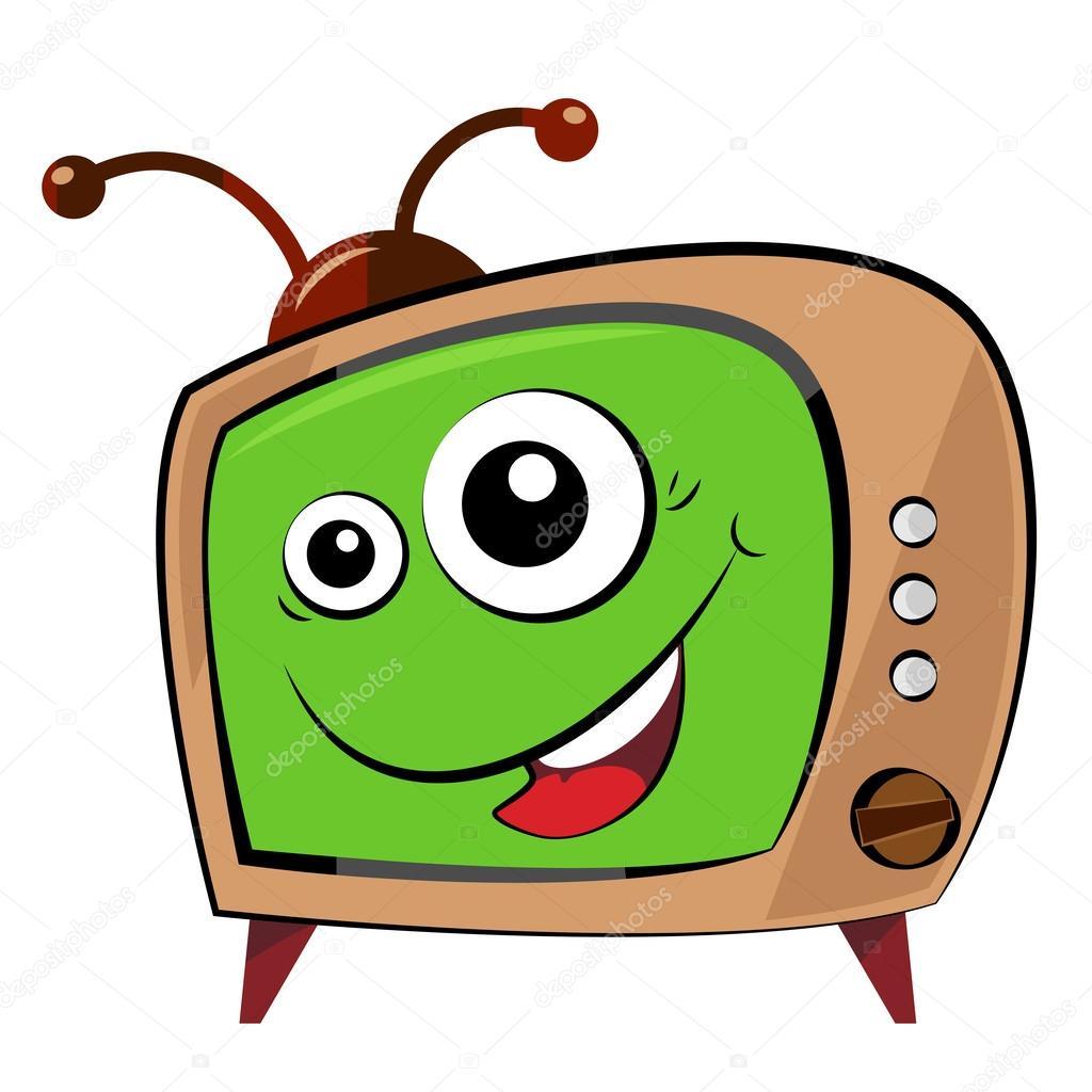 Illustrated Funny Cartoon Tv Character Stock Vector Mvmaster
