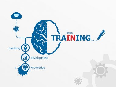 Training.  Business vector concept