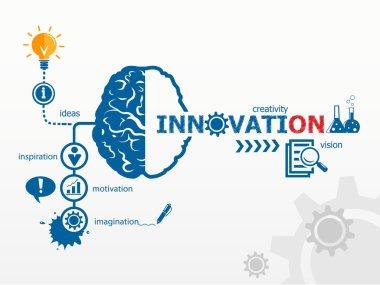 Innovation concept. Creative idea abstract infographic clip art vector